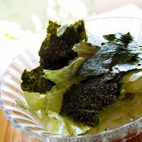 レタスだけサラダ〜簡単、レタスが山盛り食べられる