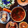 とろ実×ホルモン×秋野菜&果物 de トリッパ風 うまうま煮込み by 青山 金魚さん