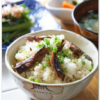 生姜香る秋刀魚の蒲焼混ぜごはん