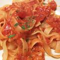 きのうのおつまみ  ツナとトマトのフェットチーネ by endocoさん