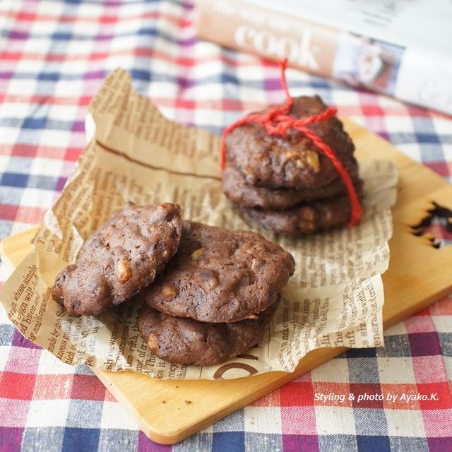 【ラルーン掲載】バレンタインに!フライパンで出来る簡単レシピ「チョコとくるみのドロップクッキー」