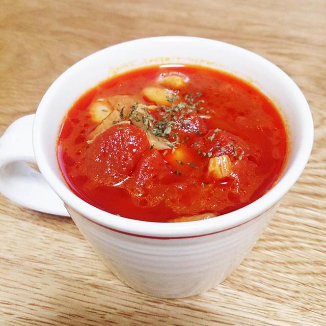 マッシュルーム香るタンパク質も取れるデトックススープ