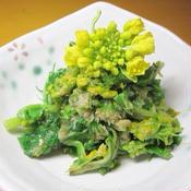 フキノトウと菜の花の胡麻味噌和え