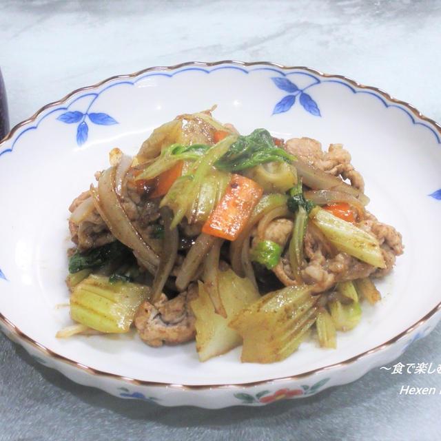 セロリ1本ペロリ。ピリ辛の後引く美味しさ『豚肉とセロリの黒胡椒炒め』