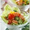 サーモンとオクラのロミロミ風サラダ