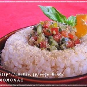 時短ジェノベーゼ♪野菜のせバターライス