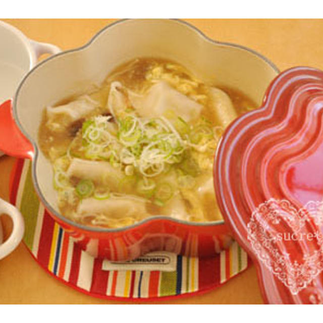 * 紀文「柚子胡椒香る・きのこと卵のとろ〜りスープ餃子」 *