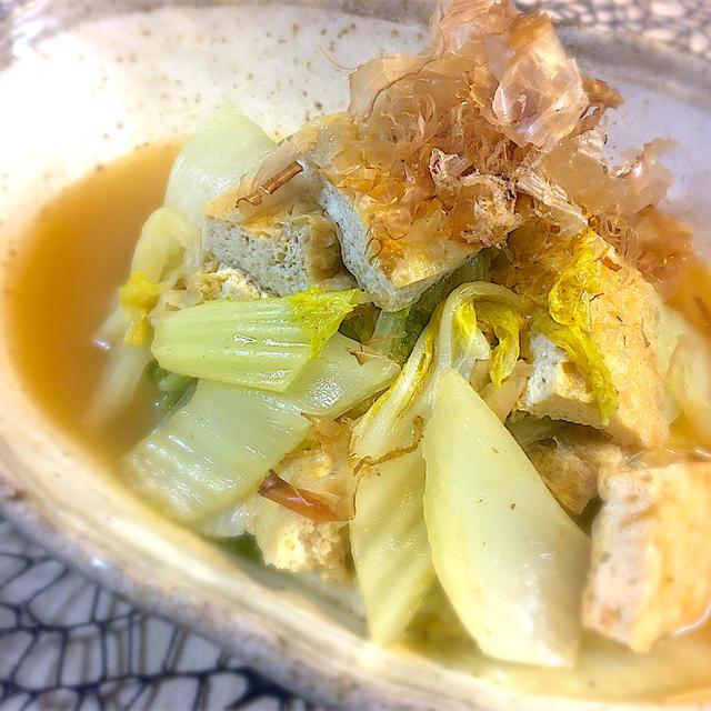 【簡単煮物】白才と油揚げのうま煮