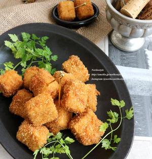 サクサク♪高野豆腐のおつまみカレーチーズフライ