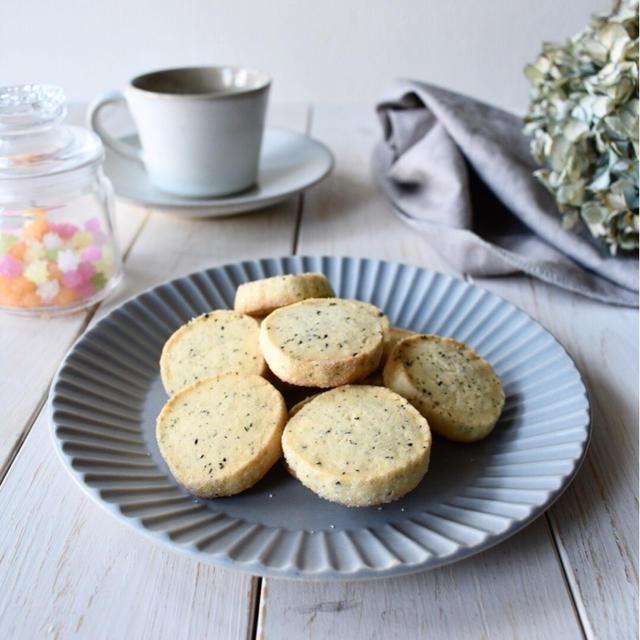 先日の【紅茶のアイスボックスクッキー】の作り方。