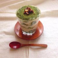 豆腐クリームと麩で抹茶きなこティラミス