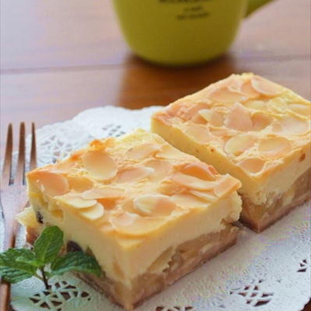 カラメルリンゴの スクエアチーズケーキ ☆
