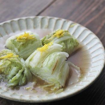 ■【ヤマキだし部】焦がし白菜のだし蒸し♪
