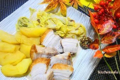 白菜とりんごの豚肉煮☆旬の白菜とりんごで美味しく