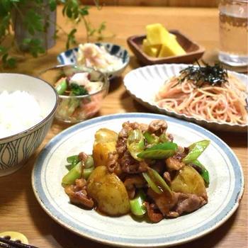 【レシピ】豚肉とじゃがいものオイコチュ炒め#甘辛おかず#お弁当#時短#子供が好きな味付け…練習試合前日の晩ごはん。