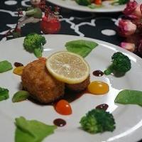 里芋と鮭のスパイス揚げ