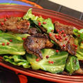ラム肉の3種のペパー*バターポン酢炒め☆