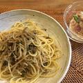 じゃこ山椒のパスタと煮魚定食