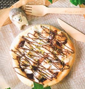 もっちり生地とヌテラのチョコマシュマロピザ