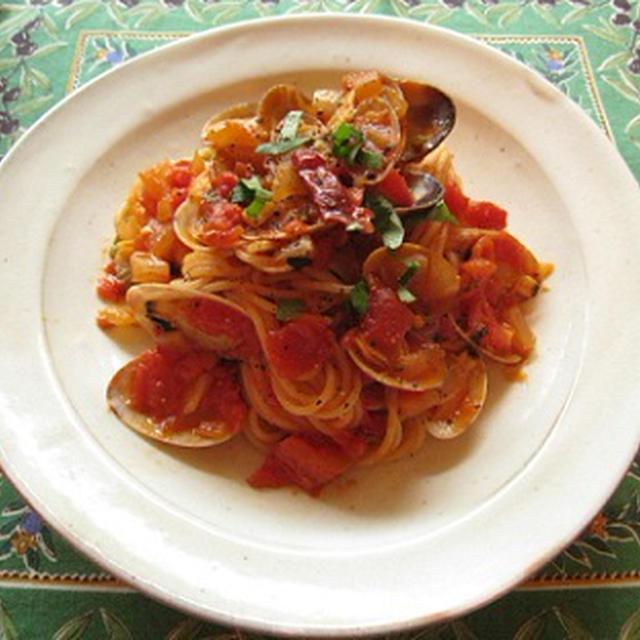 あさりのトマトスパゲティ