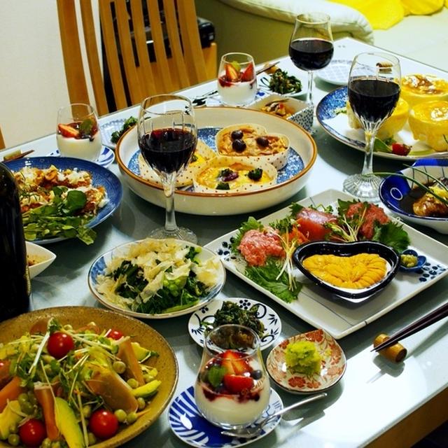 続【バレンタインディナーラストショーは料理の全貌編 各レシピ付き】家で作って野菜も宅配です^^♪