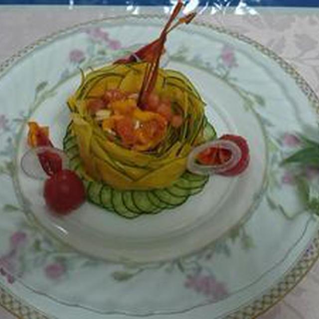 カボッコリーのガトー仕立てのサラダ