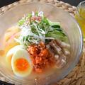【ヤマキだし部】あごだしde冷麺、さっぱりスープがおいしい冷たい麺料理。