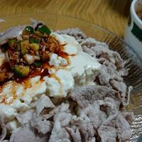 冷たい肉豆腐