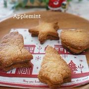 娘と手作り♪ホットケーキミックスでオートミール入りクッキー★クリスマスバージョン