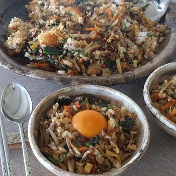 平土鍋ビビンバ