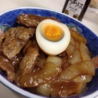牛バラ肉ソース丼