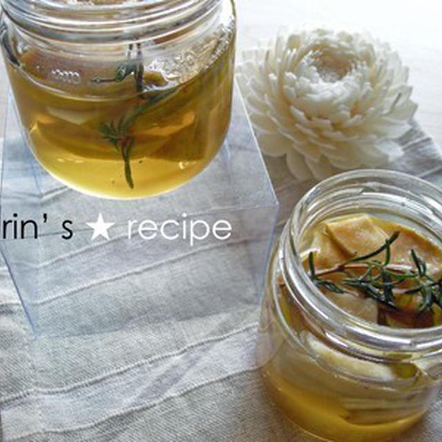 ローズマリー香る、かりん蜂蜜漬け