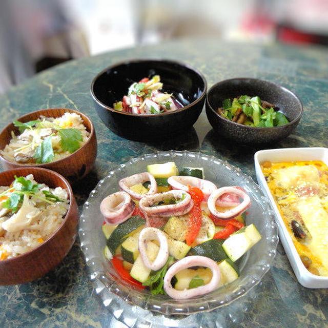 7月30日★大阪は今日もHOTだよ。今日も簡単でも、とってもキレイな色合いのお料理だよ全5品