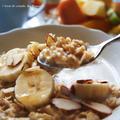 8分♪バナナ&メープルのホットミルクオートミール