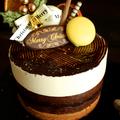 ババロアとガナッシュのクリスマスケーキ