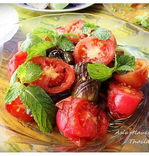 トマトと茄子の醤油漬け