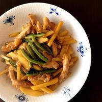 スパイシー☆豚肉とゴーヤの青椒肉絲、梅肉の刺身こんにゃく@ガラムマサラ