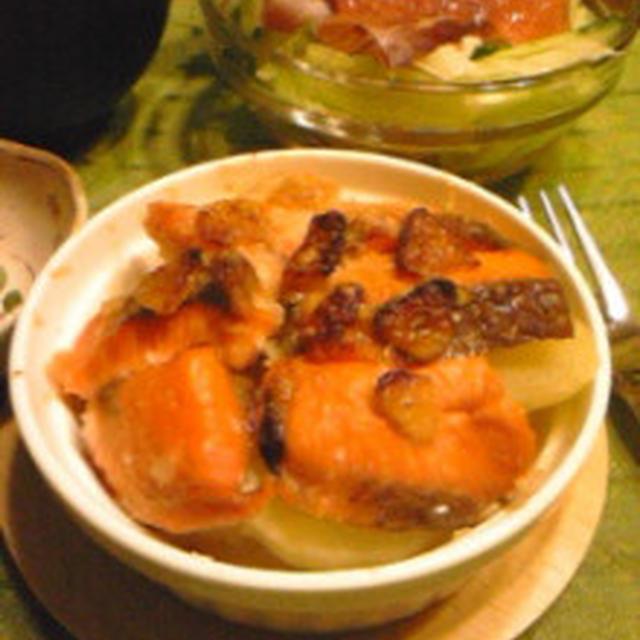 バンゴ:ひよこ食堂さんの「鮭とじゃがいものにんにく焼き」