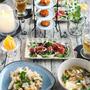 里芋と豚肉のたきこみごはん&マグロと春菊のチョレギサラダ