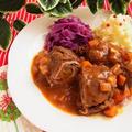 ひと鍋ドイツ料理 * 牛肉ロールの煮込み リンダールラーデン - Rinderrouladen by 庭乃桃さん