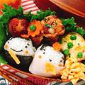 【キャラ弁】ひな祭りのお雛様おにぎり弁当