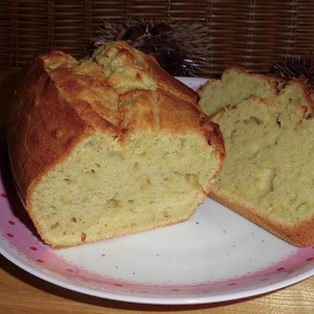 栗甘露煮をペーストにしてパウンドケーキ~♪