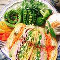 卵焼きがパン代わり☆ハムとアボガドのハムぱくサンド by Misuzuさん