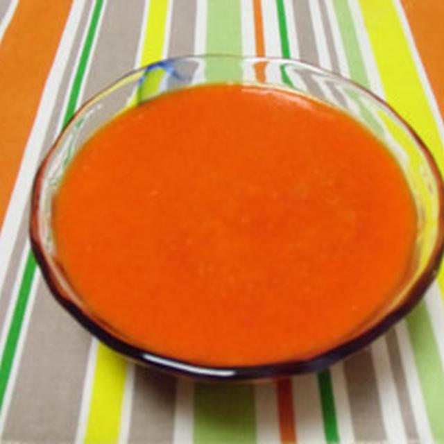 魅惑の組み合わせです!!赤ピーマンとオレンジのスープ