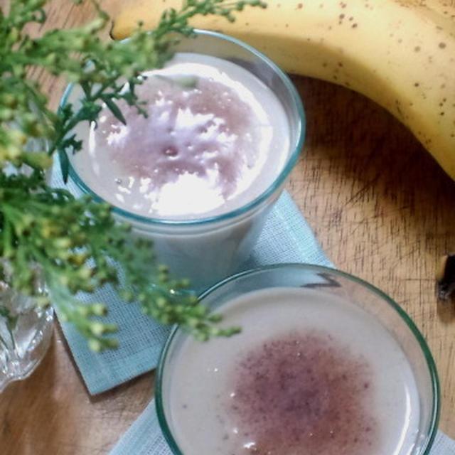 カカオ風味の豆乳バナナジュース