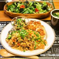モランボン韓の食菜deキムチチャーハンの献立
