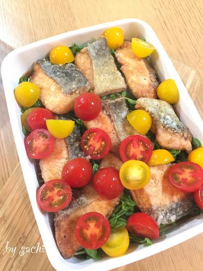 【作り置き】鮭と豆苗の南蛮漬け♡