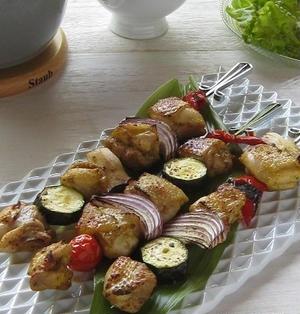 鶏肉と野菜のブロシェット♪