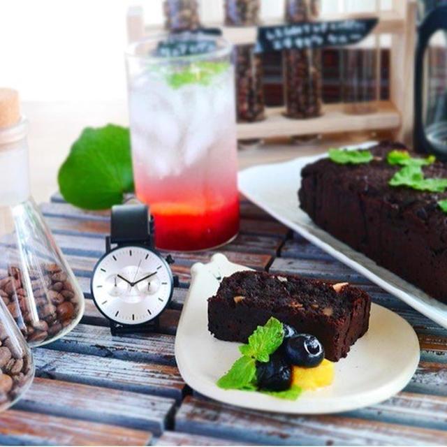 土曜日のおやつ♪おからで作るガトーショコラ風パウンドケーキ