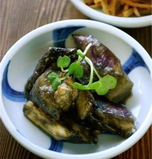 レンジで時短の常備菜☆なすのこってり味噌炒め